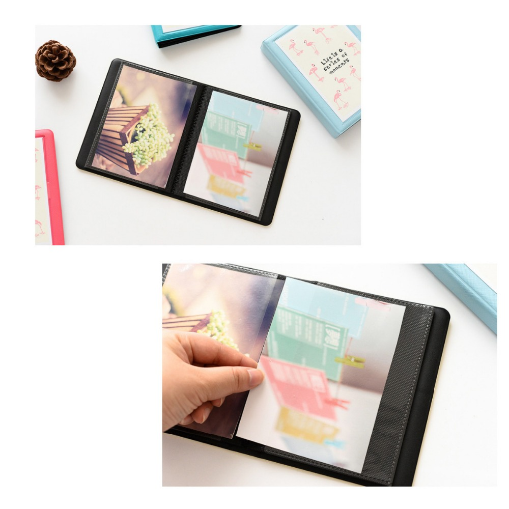 Image 4 - 32 Pockets Colorful Flamingo Mini Photo Album Picture Case Storage for 5 Inch Photo / Instax WIDE Film-in Camera/Video Bags from Consumer Electronics
