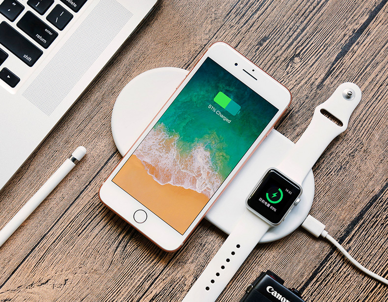 2 in 1 Wireless Charge Pad For Iphone X Iphone 8 Samsung S9 Samsung S8 DIY Disassemble Apple Watch wireless Charge Pads (19)