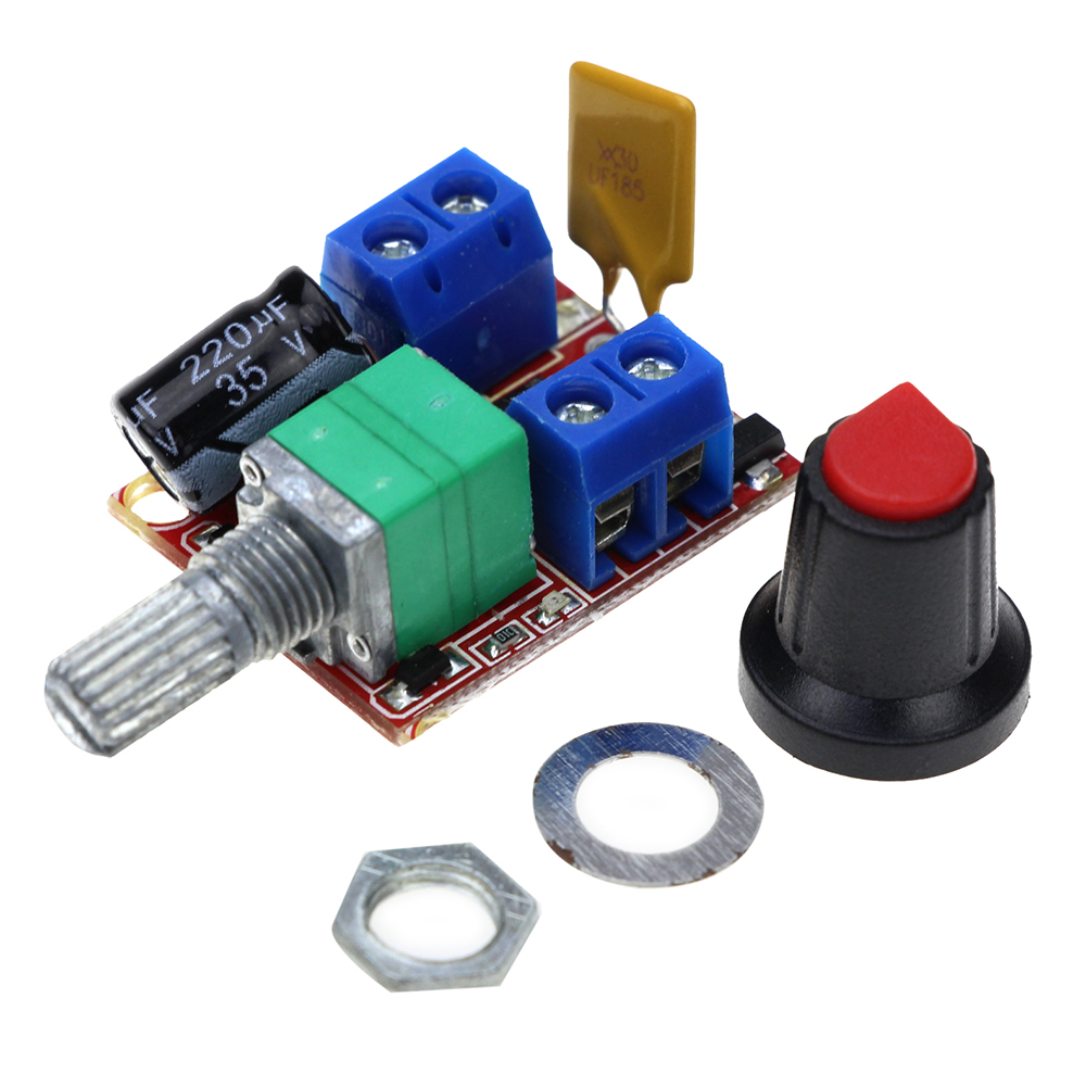Smart electronics 3v 35v speed control switch led dimmer for Small dc motor controller