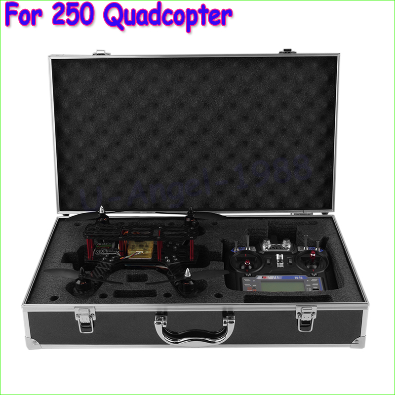 1pcs New Portable Aluminum Carrying Case Box Suitcase For QAV250 Mini 250 Quadcopter Wholesale new nylon backpack carrying bag case for yuneec typhoon q500 rc quadcopter
