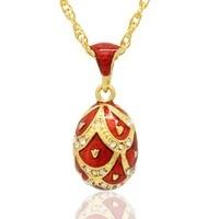 Thích hợp cho tất cả các thương hiệu handmade red men Nga egg pendant vòng cổ Phục Sinh trang sức quà tặng