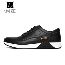 VIXLEO New 2017 Men Shoes Genuine Leather Business Casual Shoes Fashion Lace Up Outdoor Men Flats Shoes Rubber Sole