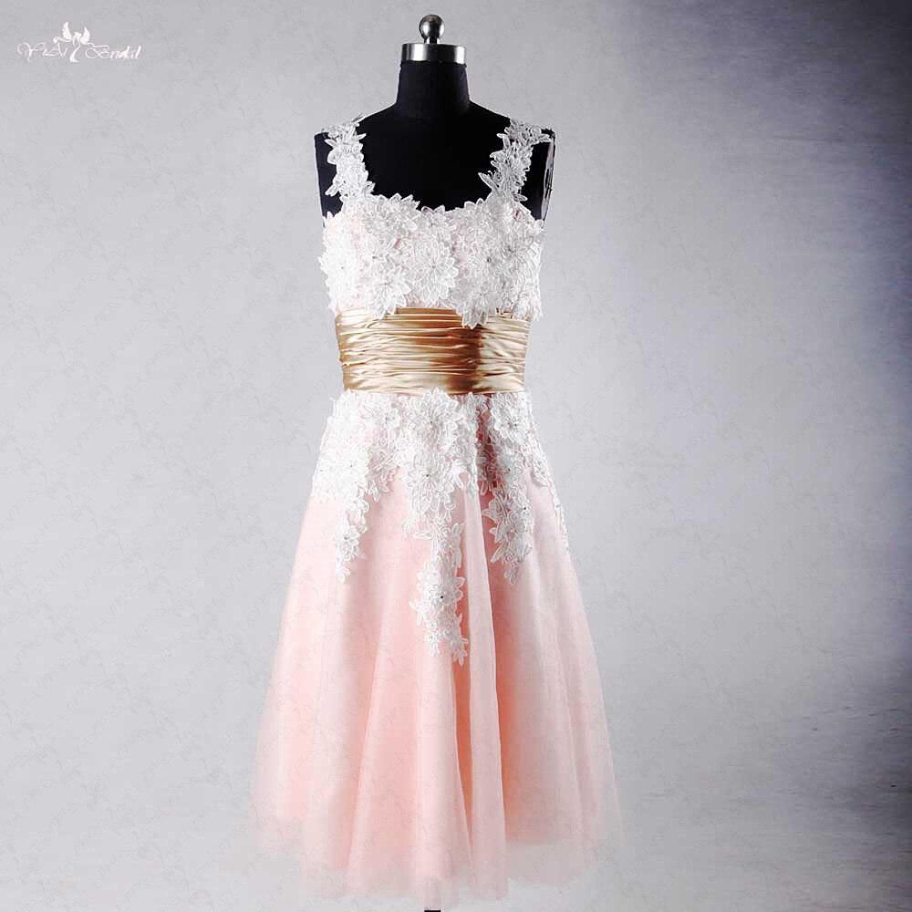 Rse751 сладкий 16 Платья для женщин короткий розовый Бальные платья