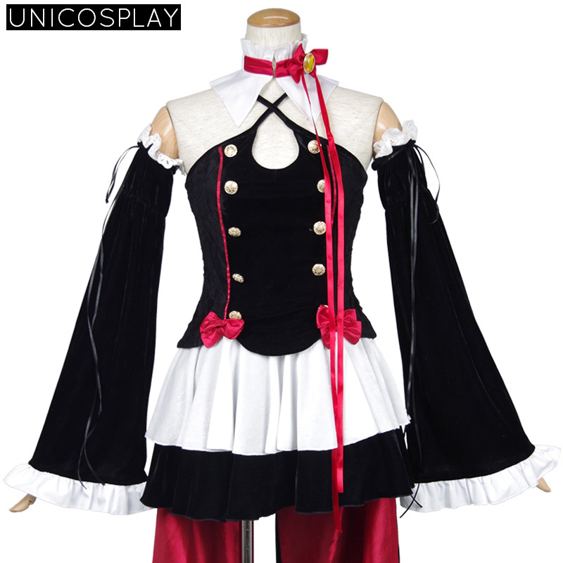 Seraph of the End Krul Tepes Cosplay Vampire Queen Costume Owari no Serafu  Halloween Outfit For Women Velvet /Satin