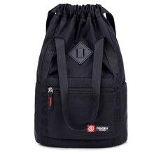 Mochilas de nailon para mujer, mochila con cordones informal, bolso de hombro multifunción, bolso escolar de viaje para adolescentes