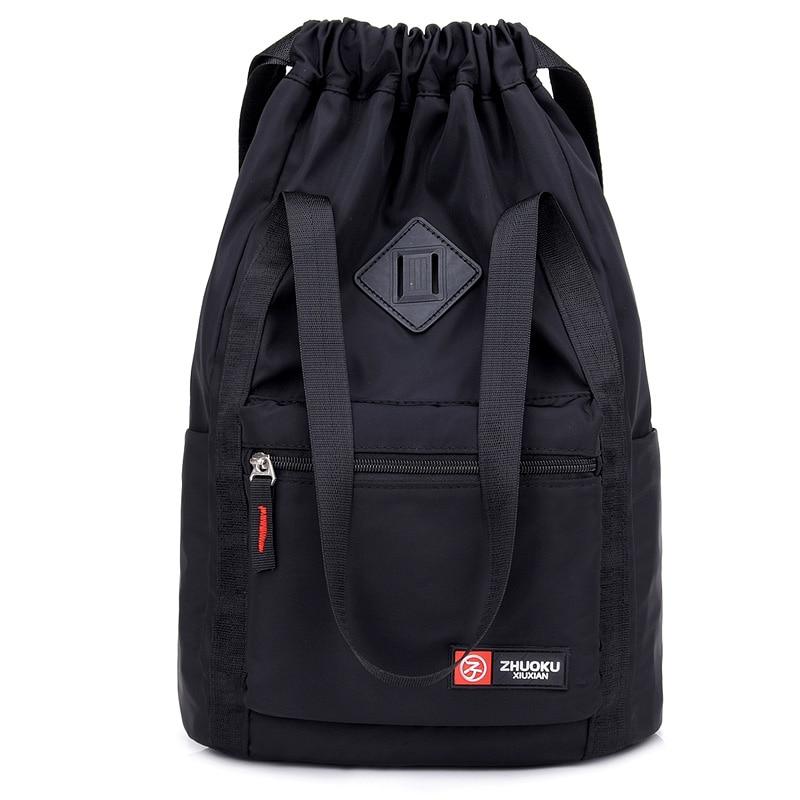 Women Nylon Backpacks Fashion Ladies Casual Drawstring Rucksack Multifunction Shoulder Bag Teenager Girls Travel SchoolbagBackpacks   -