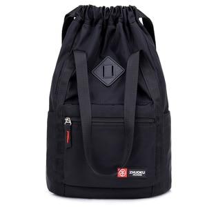 Image 1 - Women Nylon Backpacks Fashion Ladies Casual Drawstring Rucksack Multifunction Shoulder Bag Teenager Girls Travel Schoolbag