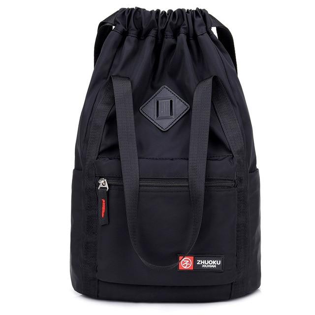 Women Nylon Backpacks Fashion Ladies Casual Drawstring Rucksack Multifunction Shoulder Bag Teenager Girls Travel Schoolbag