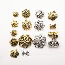 Capsules de perles tibétaines en alliage de Zinc, adaptées à la confection de bijoux, 6-10mm, 30 pièces, perles d'espacement, Style Bali, accessoires, HK146