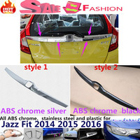 For H08DA FIT JAZZ 2014 2015 2016 Car Body Cover ABS Chrome Rear License Plate Door