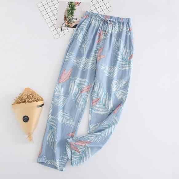 אופנה בית צפצף נשים ארוך מכנסי פיג 'מה סתיו חורף הלבשת צפצף הדפסת כותנה nightwear פיג' מה מכנסיים גבירותיי מכנסיים