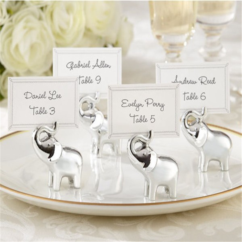 1pcs silver elephant card gift box business card for Application box decoration