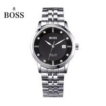 O Senador PATRÃO Alemanha relógios homens marca de luxo 21 jóias MIYOTA CO. JAPÃO de aço inoxidável preto automático mecânica auto-vento