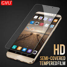 GVU 9H Tempered Glass For Huawei P6 P7 P8 P9 P10 Lite Screen Protector For Huawei Y3 Y5 Y7 2017 P9 P10 Plus Semi-coverage Glass(China)