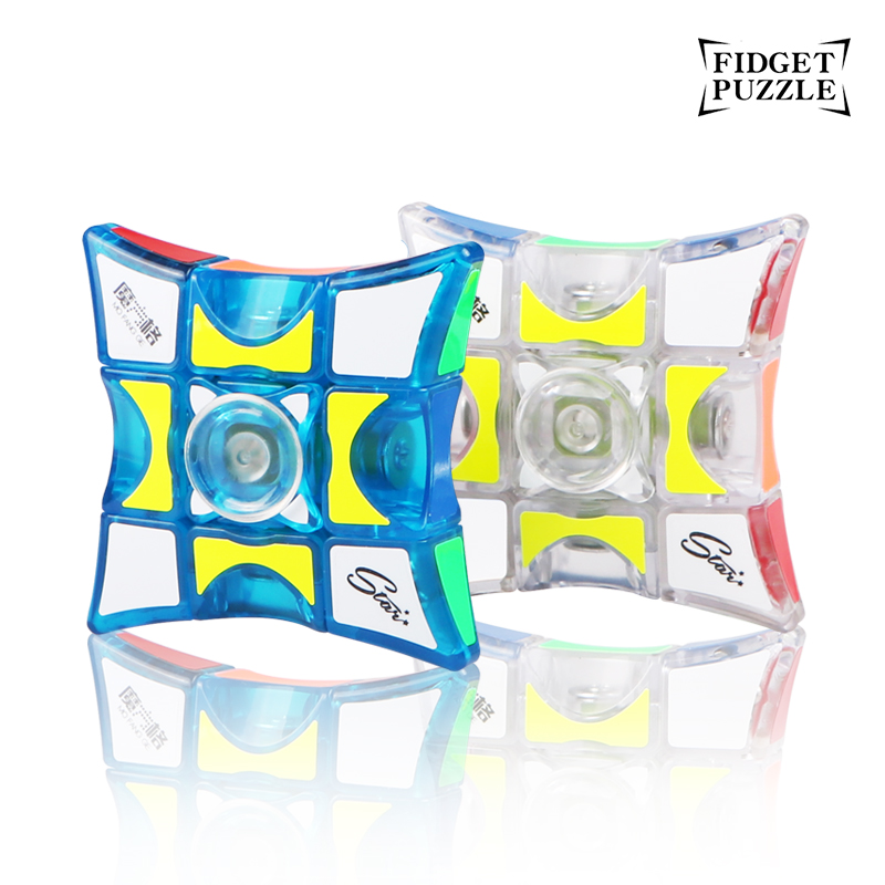 Qiyi Fidget Puzzle 1x3x3 Finger Spinner Cube Transparent Mofangge Puzzle 2018 Released Education Toys For Children Collection
