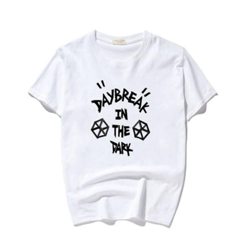 Daybreak i mörkret Tryckt T-shirt Kortärmad Mäns Bomull Svart Hip - Herrkläder - Foto 4