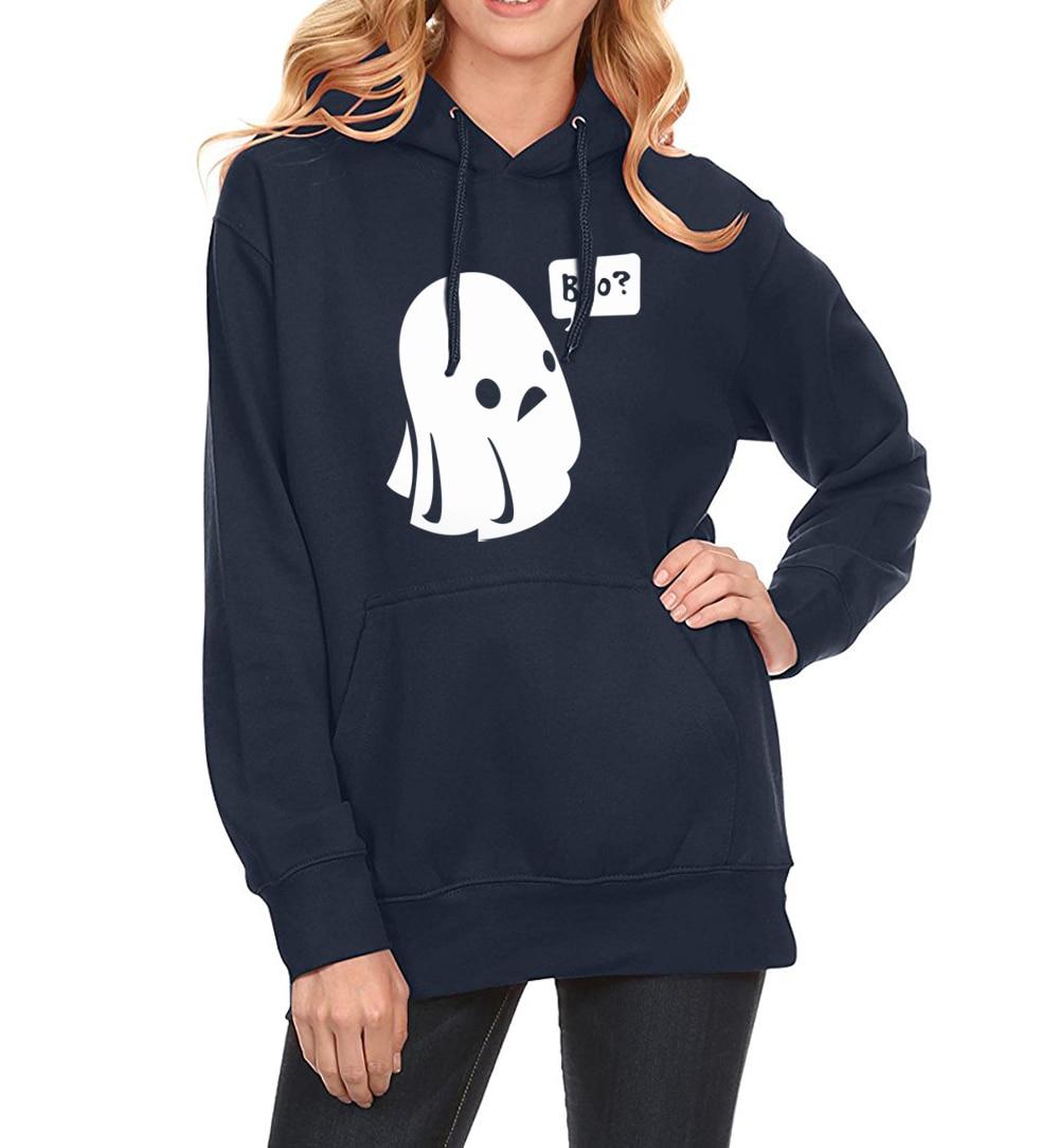 Ghost Boo Halloween Print Streetwear Hip Hop 2019 Spring Winter Sweatshirt Fleece Hoodies For Women Brand Sportswear Harajuku