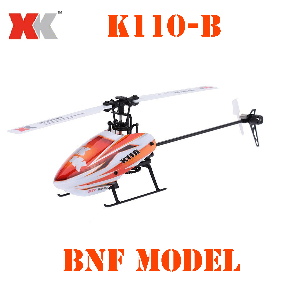 BNF Model Original XK Blast K110-B 6CH 3D 6G System Brushless Motor BNF RC Helicopter rtf rc helicopter k110 6ch 3d 6g system brushless motor bnf drone remote control helicopter with transmitter remote control toy