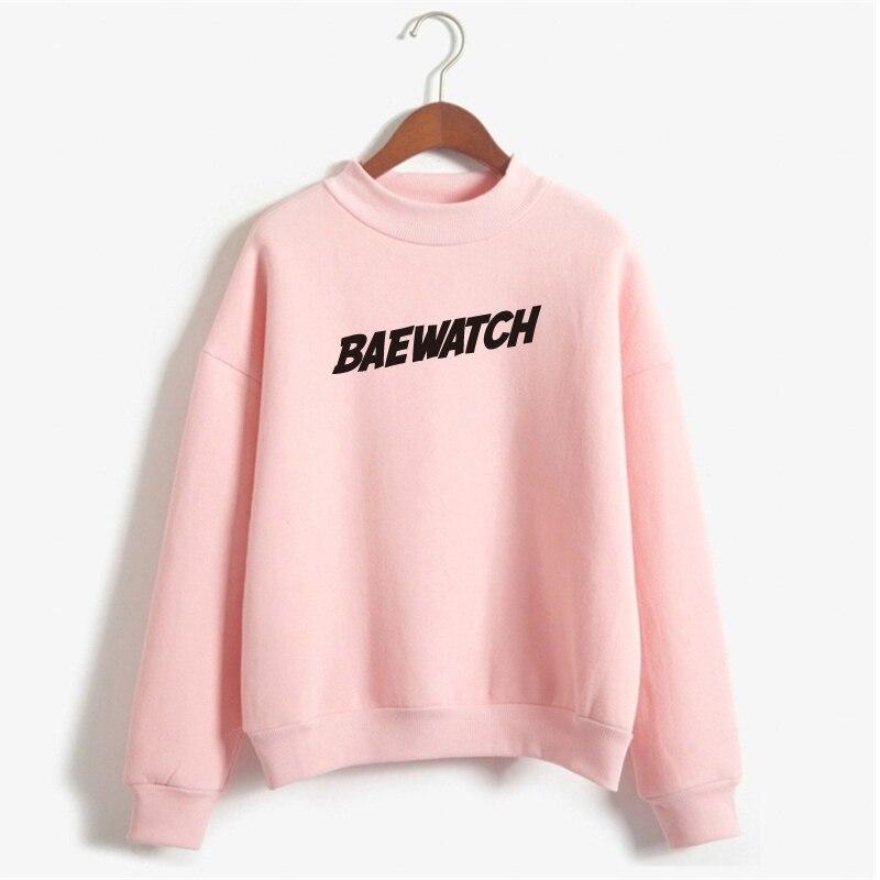BAEWATCH Sweatshirts Women Print Hoody Fleec Letter Pullover Hoodies Women Sweatshirt Casual Long Sleeve NSW-10485