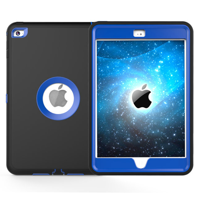 For Apple iPad mini 4 Case Cover Retina Kids Safe Armor Shockproof Heavy Duty Silicone Hard Case 3 PCS Free Gifts (2)