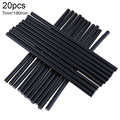 Gun Adhesive DIY Tools Alloy Accessories Repair 20 pcs/lot 150mm Black Hot Melt Glue Sticks 7mm