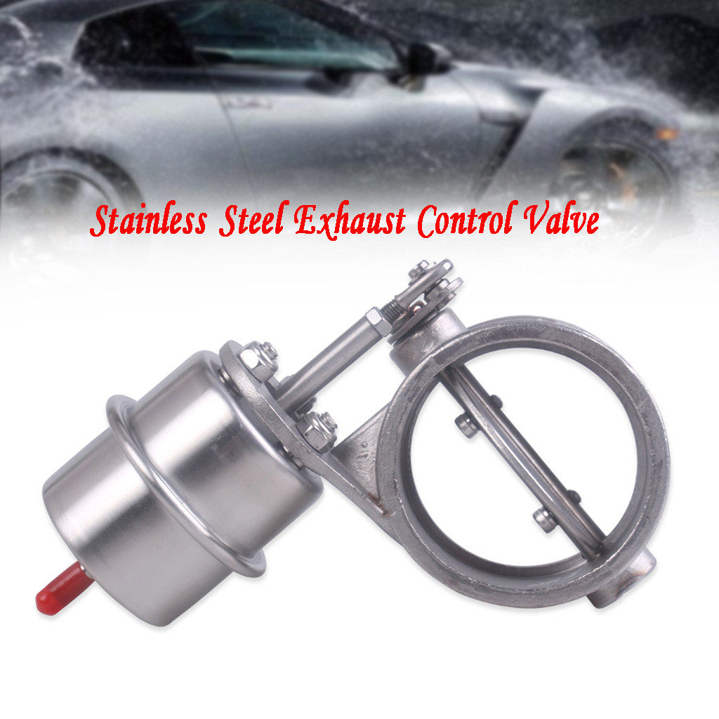 3Size Stainless Steel Exhaust Control Valve Set Vacuum Actuator Open Style Exhaust Tip Akrapovic Car #G7