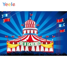 Yeele Vinyl Circus Children Birthday Party Photography Backdrops Baby Child Carnival Photographic Backgrounds for Photo Studio