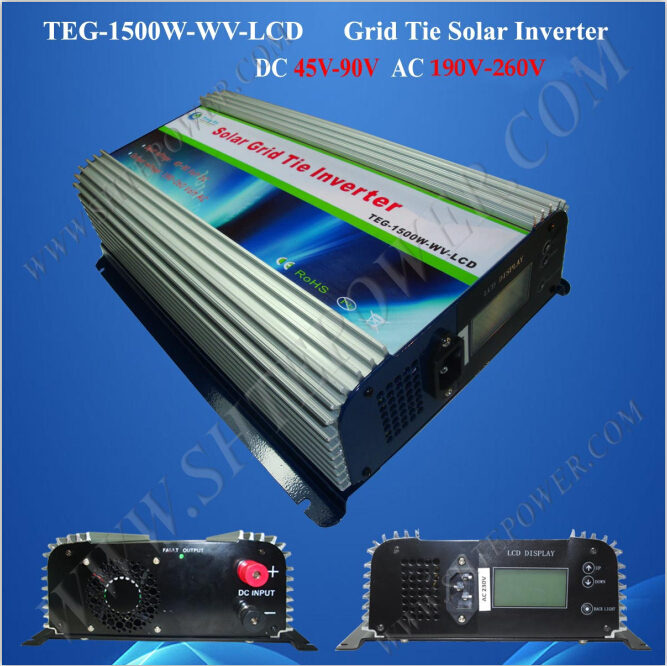 solar 45-90v 1500watt mppt inverter pure sine wave 240v grid tie converter micro inverters on grid tie with mppt function 600w home solar system dc22 50v input to ac output for countries standard use