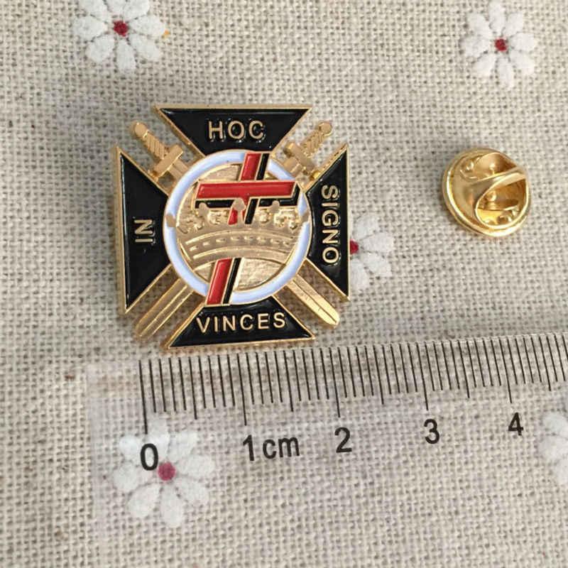 10pcs Wholesale Malta Cross Knights Templar Commandery Masonic Lapel