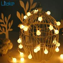 Litake 5M 50 LED USB Ball Bulb String Lights with Remote Control Garden Home Party Wedding Bar Decoration String Lamp(China)