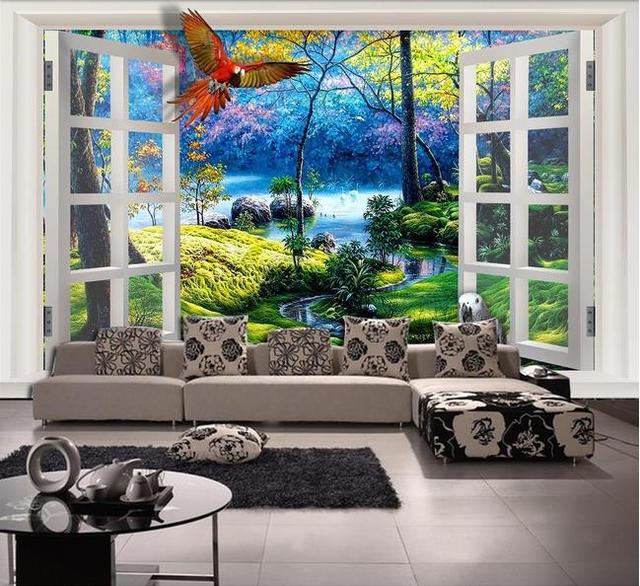 papel de parede HD Decorative painting Television 3d mural for ...