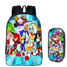 Hot Super Mario Bros Sonic Hedgehog dla dzieci plecak dla dzieci Cartoon tornister chłopców i dziewcząt ortopedyczne plecak Mochila Escolar tanie tanio Torby szkolne Poliester zipper Unisex Polyester KK906 42cm 16cm 0 45kg 29cm KKABBYII