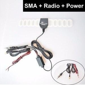 Усилитель сигнала SMA + Coax с FM-антенной, цифровой ТВ-усилитель, цифровой ТВ DVBT ATSC, ISDB, аналоговый усилитель сигнала для автомобиля, приборной па...