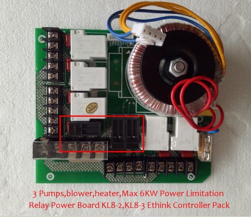 Chine chaude baignoire spa JNJ SPA-8028 KL8-2 système de contrôle Principal Relais carte de puissance