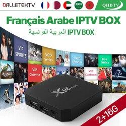 X96 mini IPTV France Arabic TV Receiver Android 7.1 2GB 16GB Media Player Amlogic S905W Quad Core Wifi QHDTV France Arabic IPTV