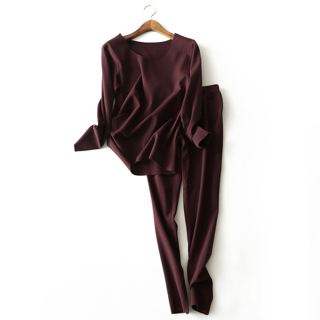 9ef4dea85a36 Women Sexy Long Johns Set Winter Velvet Thick Thermal Underwear Warm  Layered Clothing Pajamas Thermos Female Bodysuit Clothes