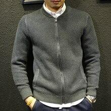 Men Sweater Cardigan Jacket Baseball-Clothing Knitted Zipper Male Winter Fashion Outerwear