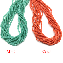 Wholesale  Loose Beads 10 Strands 2mm Crystal Faceted Rondelle Glass Coral for Making Jewelry Bracelet