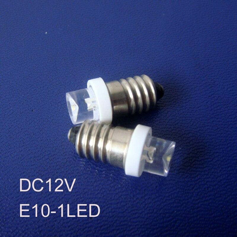 High Quality 12v E10 Led Warning Lights,e10 Led Pilot Lamp,12v E10 Led Signal Lights,led E10 Bulbs Car Free Shipping 100pcs/lot Buy One Give One Led Bulbs & Tubes