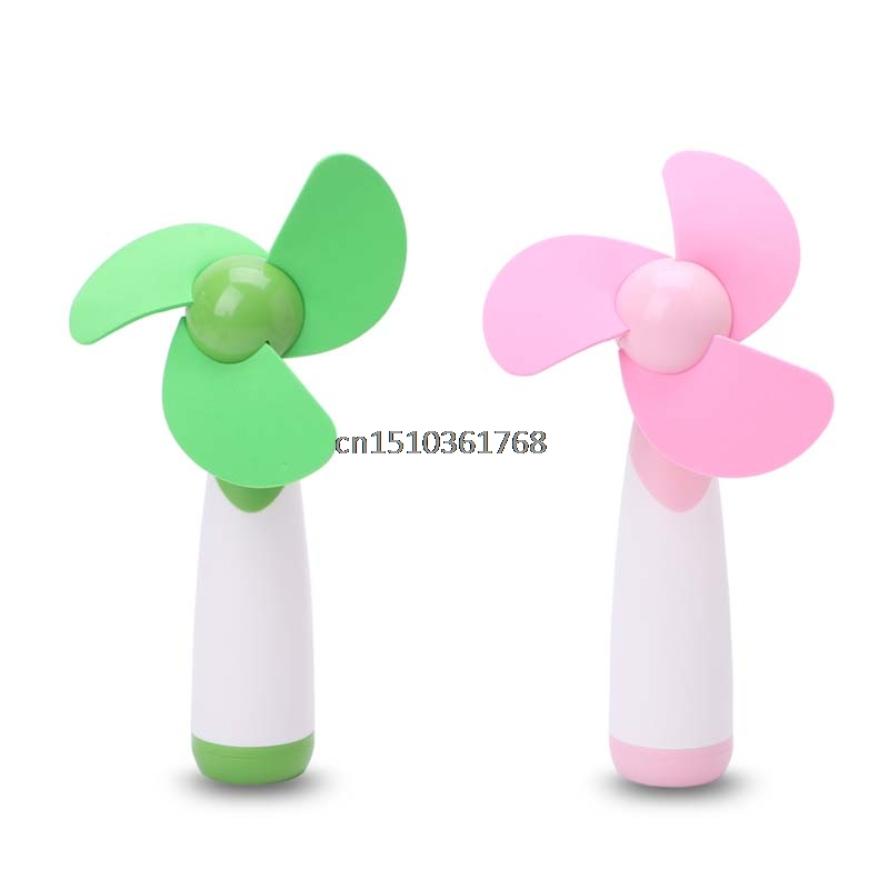 New Portable Handheld Mini Fan Super Mute Battery Operated for Cooling #Y05# #C05# mini handheld battery operated sewing machine for kids