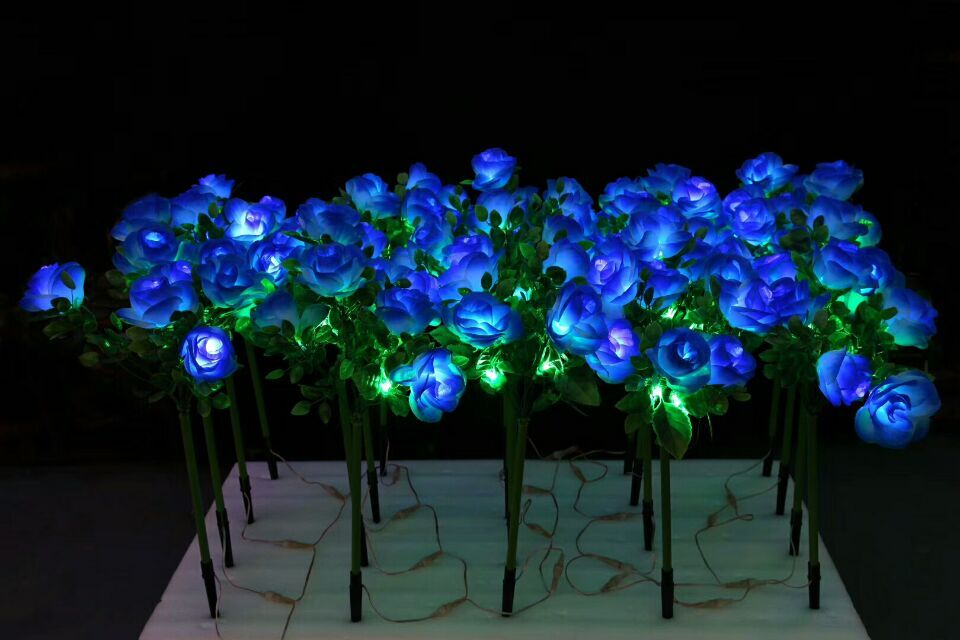 70CM Led Yellow Blue Flowers Light Outdoor Indoor