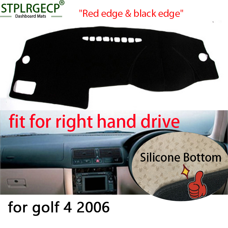 Right hand drive Double layer Dash Mat Dashmat Dashboard Cover Sun Shade Dash Board Cover Carpet for VW Volkswagen Golf 4 MK4