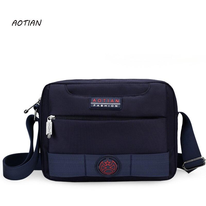AOTIAN 2019 fashion men messenger bags school Nylon shoulder bags high quality crossbody bag oxford for traveling business bags messenger bag