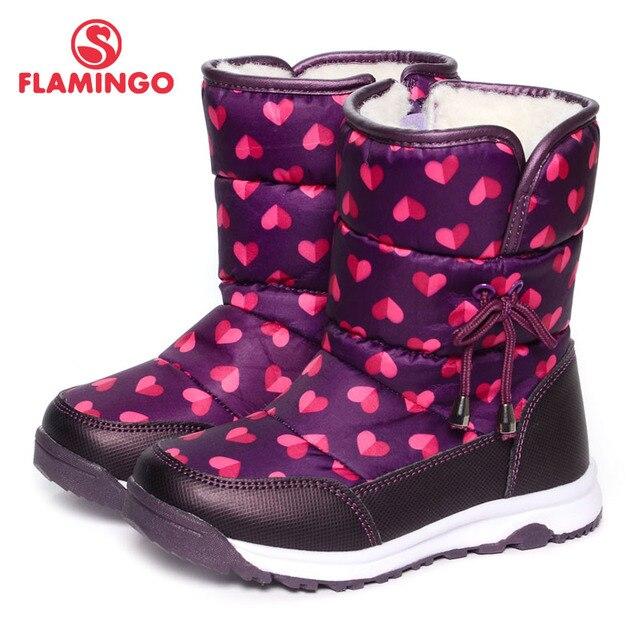 Русский бренд 2016 новая коллекция зимней моды снег сапоги с шерстяной высокое качество anti-slip детская обувь для девочки 52-NC406