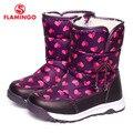 FLAMINGO 2016 nova coleção moda inverno botas de neve com lã de alta qualidade anti-slip 52-NC406 sapatas dos miúdos para a menina