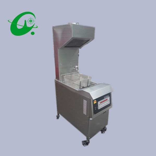 25l Electric Deep Fryer With Range Hood With Oil Pump