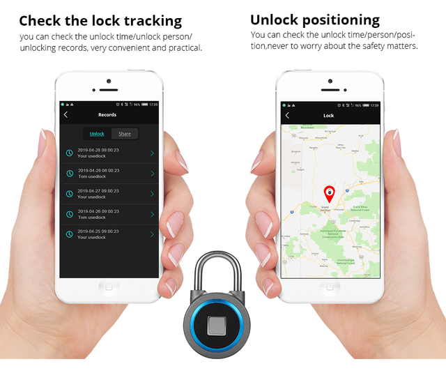 Rechargeable Waterproof Smart Lock