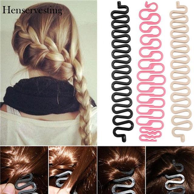 Nuevo diseño de moda mujer estilo de pelo Clip palo Bun Maker trenza herramienta de la belleza del pelo accesorios de maquillaje para las mujeres Dama