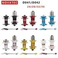 Оригинальный Novatec D041SB D042SB велосипедный велосипед концентраторы QR MTB диск концентратор Черный герметичный подшипник 24 28 32 36 отверстия красны...