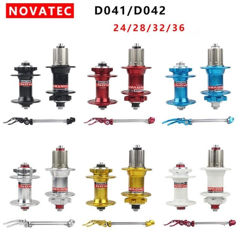 D'origine Novatec D041SB D042SB moyeux de vélo QR vtt moyeu de disque noir roulement scellé 24 28 32 36 trous rouge noir